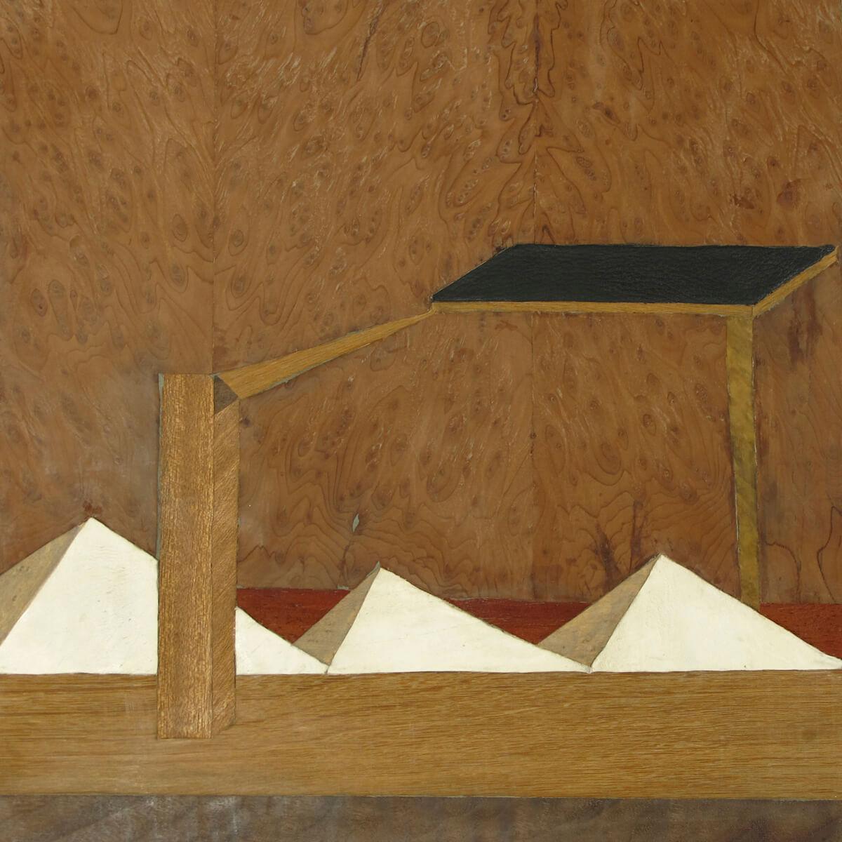Christina Beifuss, Ohio I, Holzfurnier, Intarsie, 2010